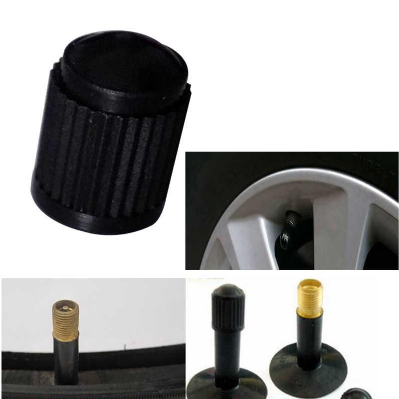 10-100 Uds. Tapa de la válvula de aire del neumático sin cámara tapas de la válvula del neumático del coche tapas de plástico Auto camión bicicleta MTB tapas a prueba de polvo
