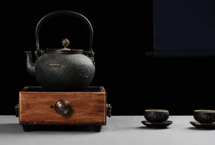 ホットプレートヘビー竹家庭用電気セラミックストーブ茶ミニ製造機機械式 mut 新
