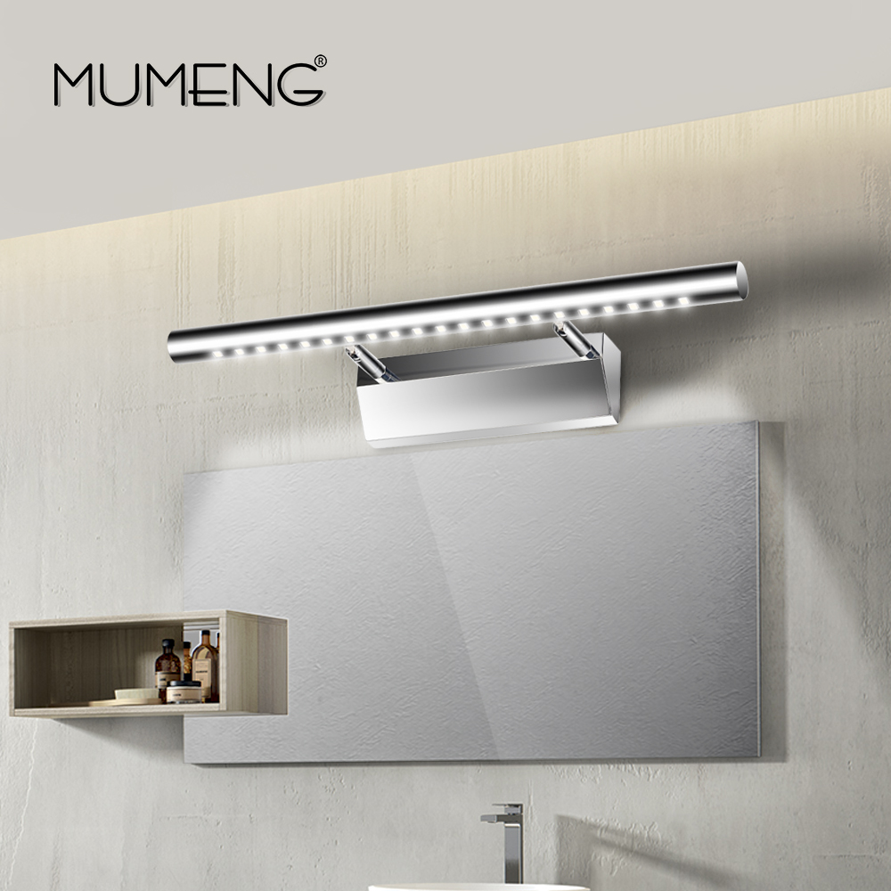 Crystal ledmirror light bubble crystal stainless steel bathroom mirror - Mumeng Led Wall Lamp Modern Bathroom Mirror Light 20cm 40cm Wall Sconce 90 265v Stainless