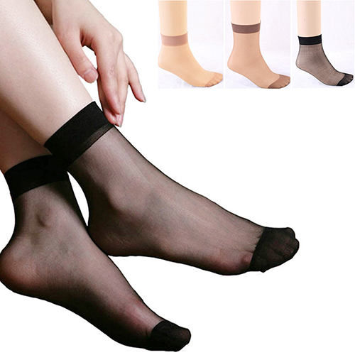 2017 New 10Pairs Women's Sexy Ultra-Thin Elastic Hosiery Ankle Socks Sheer Smooth Anklets