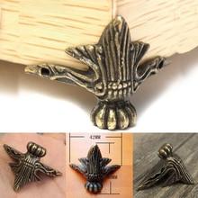4 шт./партия, высокое качество, античная латунь, Ювелирная Подарочная коробка, деревянный ящик, Декоративные ножки, угловая защита, сделай сам, ремесло