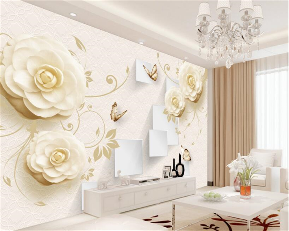Beibehang wallpaper for walls 3 d elegant stylish love for Stylish wallpaper for home