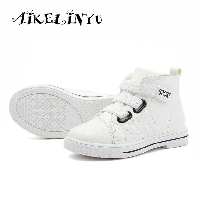 823f600917a516 Girls Fashion Sneakers 2018 Autumn Sprin Girls Shoes Boy Girls high top Sneakers  Kids White School Shoes Girls Pink Sports Shoes