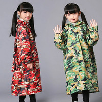 Kids Raincoat Girls Waterproof Children Coat Waterproof Clear Coat Poncho Cover Women Jacket Rainwear Impermeable Lluvia LZO016
