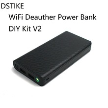 DSTIKE Wi-Fi Deauther power Bank DIY Kit V2 20000 мАч 18650 Pre-flashed ESP8266 ESP-07 8dBi антенна вспышка света светодиодный RGB led указывает