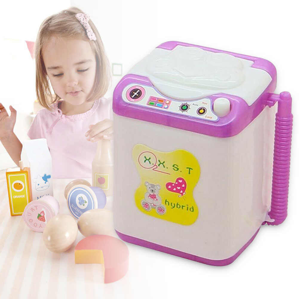 Kids Washing Machine Pre School Play Toy Washer Washing Beauty Sponges YH-17