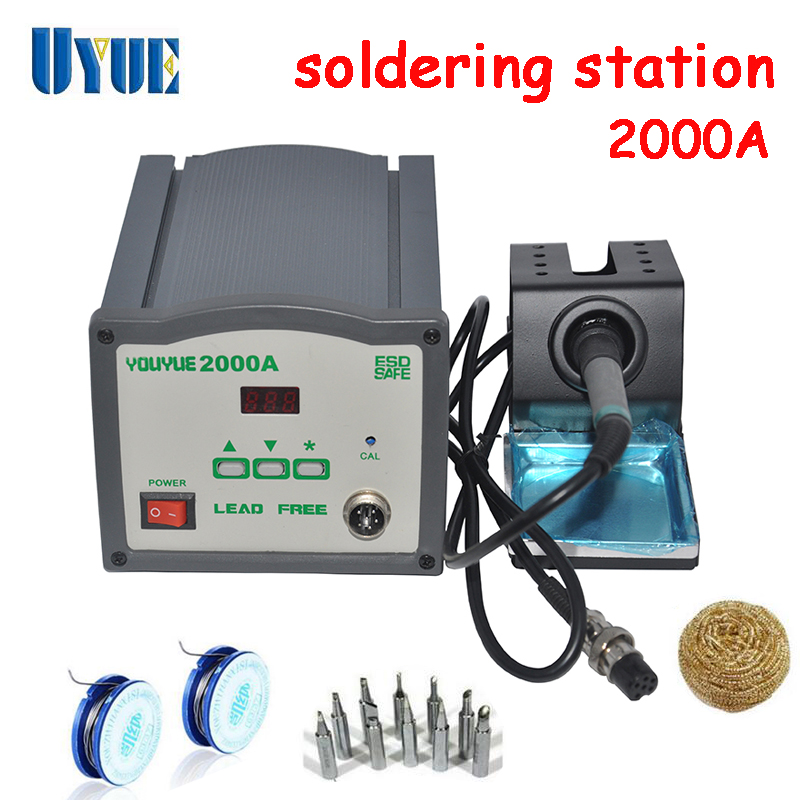 UYUE 220V 120W  High Frequency Eddy Soldering Station Air nozzle  Solder wire iron tip Clean steel ball 2000A  цены