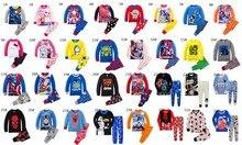 2017 New Kids Pyjamas boy girl pajama set spring child long sleeve pajamas sleepwear kids cartoon sleepwear cotton clothing good