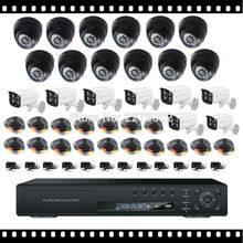 HKES New Arrival AHD DVR 24CH Digital Video Recorder 24 Channel Surveillance System with out of doors indoor cameras