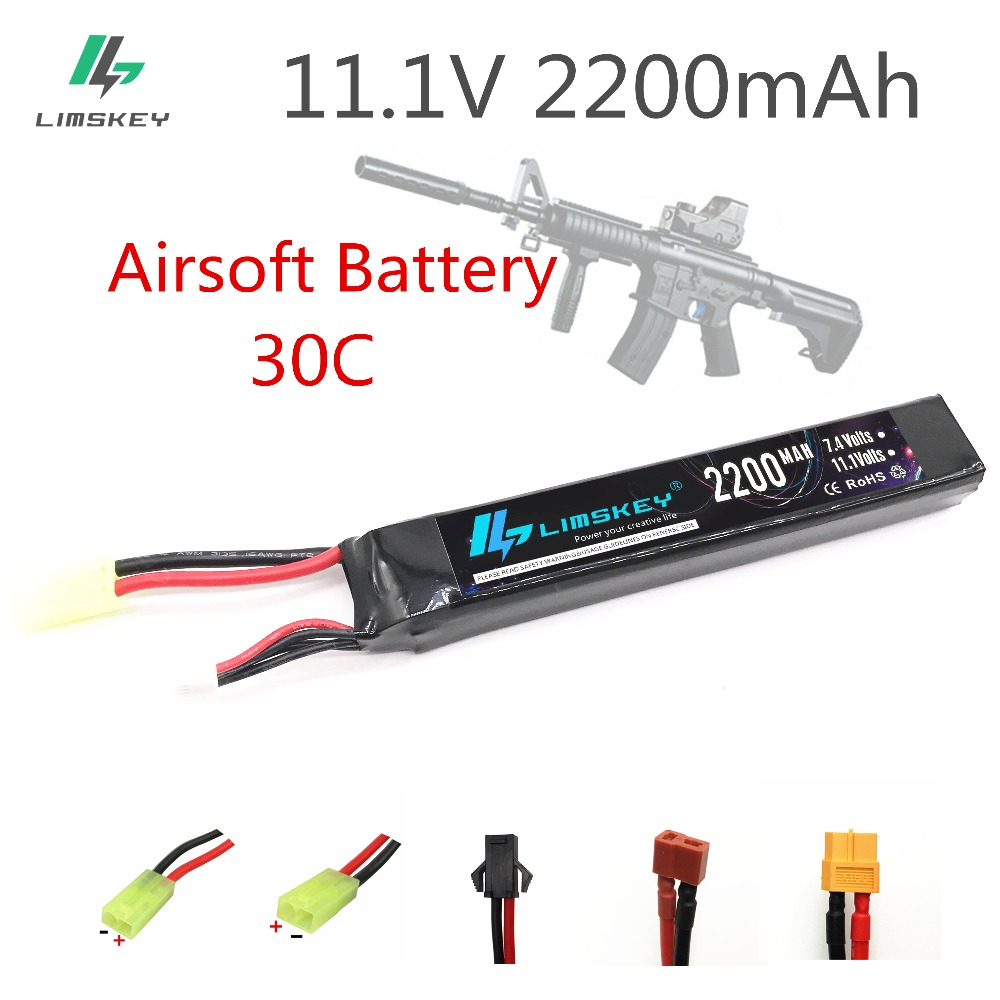 Limskey 11.1V 2200mAh 30C Max 60C 3S Mini Airsoft Gun RC Model Helicopter Quadcopter RC LiPo Battery Airsoft Gun Battery(China)