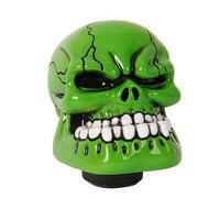 ZYHW Thương Hiệu Con Người Xương Skull Stick Hộp Số Knob cho Xe Ô Tô Thân Cây Màu Xanh Lá Cây Shifter Knob Bìa