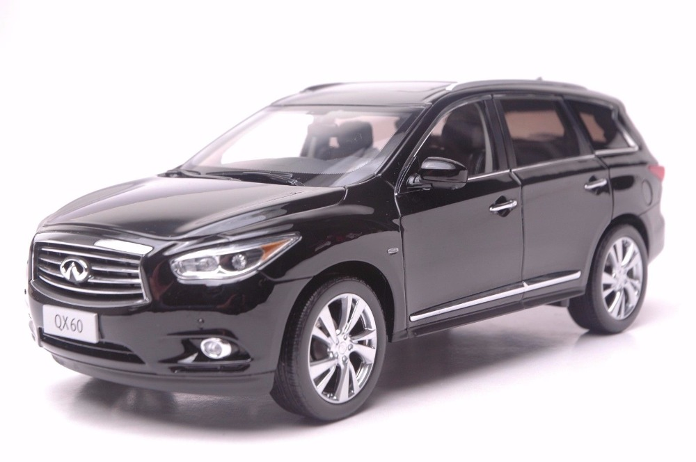 1:18 Diecast Model for Infiniti QX60 2014 Black SUV Alloy Toy Car Miniature Collection Gift FX50 FX 1 18 vw volkswagen teramont suv diecast metal suv car model toy gift hobby collection silver