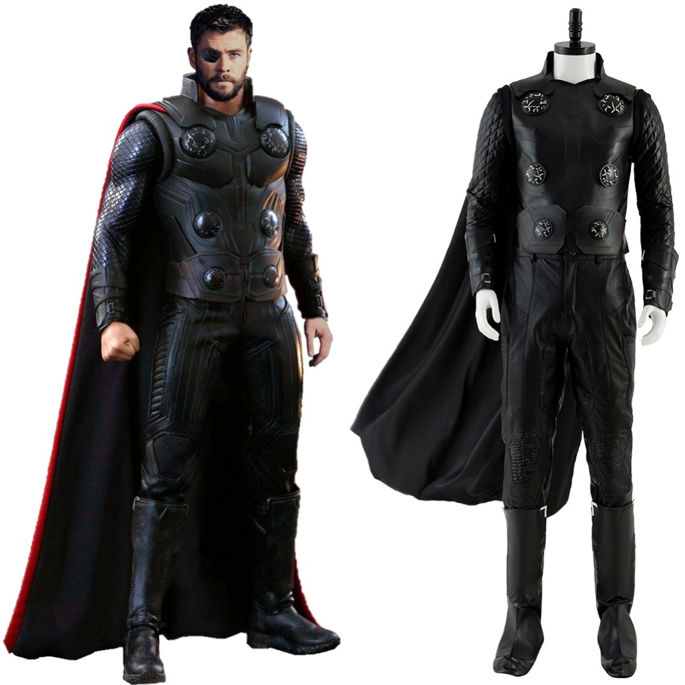 Avengers Infinity War Costume Thor Cosplay Adult Men Outfit Halloween Carnival Cosplay Costumes