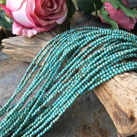 Loose Beads Green Turquoise 2 3mm Round 15 For DIY Jewelry Making FPPJ Wholesale Beads Nature