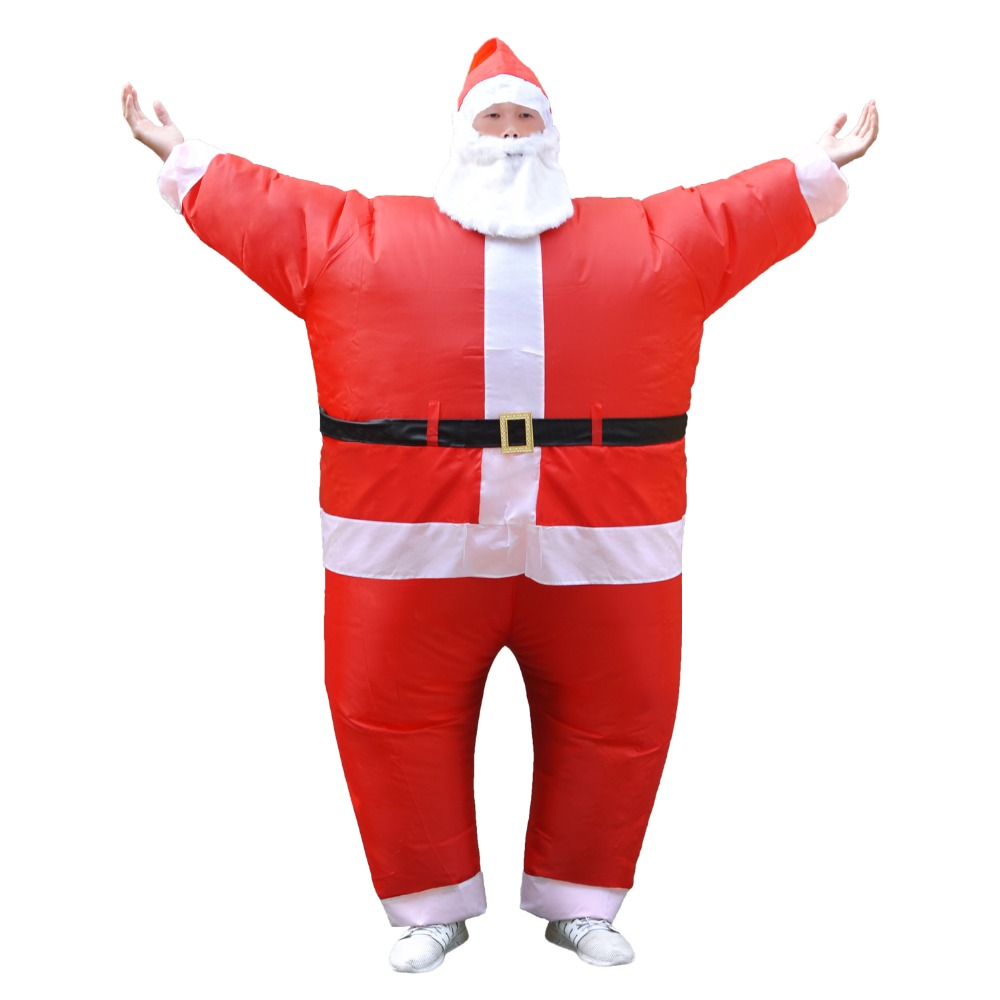Inflatable Santa Claus Costume Halloween Costumes for Adult Christmas Party Fancy Dress Outfit Father Christmas Cosplay Disfrace