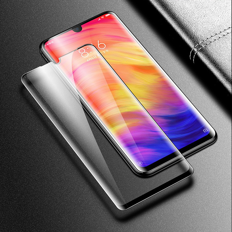 Image 4 - screen protector for xiaomi redmi 7 tempered glass xiaomi redmi y3 full cover full glue mofi ultra thin Redmi 7 protection film-in Phone Screen Protectors from Cellphones & Telecommunications