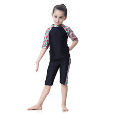 Girls Modest Islamic Swimsuits with Hijab Full Cover Muslim Swimwear XRQ88(China)