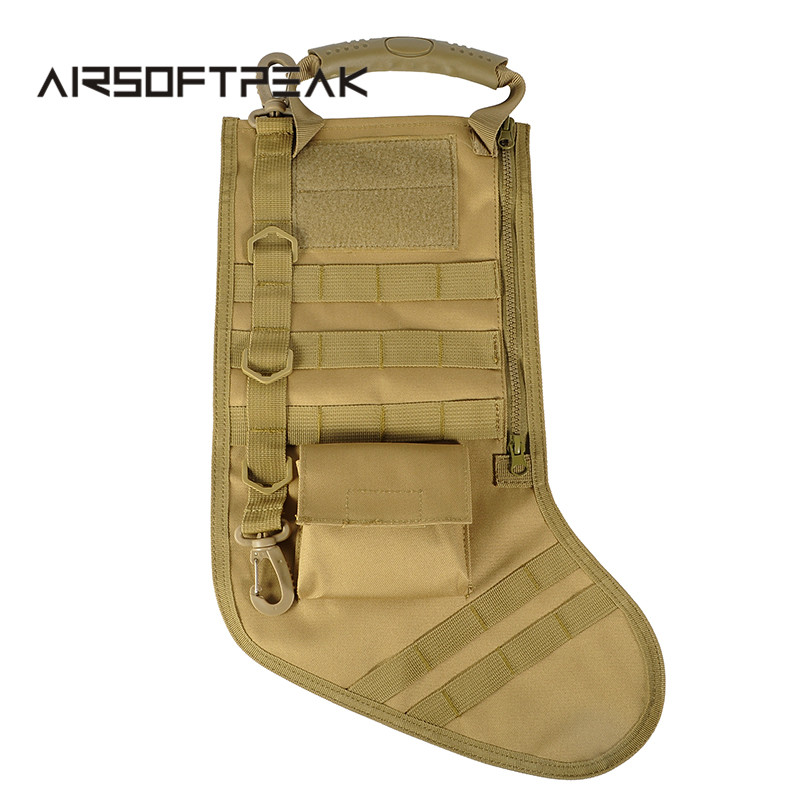 Tactical christmas stocking with molle straps dump drop