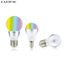 цена на RGB LED Bulb E27 E14 3W 5W 16 Color Changing RGB Magic Light Bulb Lamp 85-265V 110V 220V RGB Led Spotlight with Remote Control