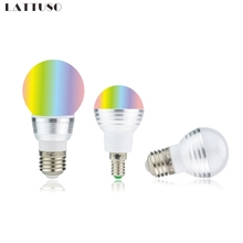 Bulb-Lamp Led-Spotlight Led-Bulb Remote-Control E14 3w E27 110V 220V 5W 85-265V RGB