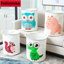 Beatiful Household Storage laundry basket creative high-grade Natural fabric bucket zakka cotton cloth storage