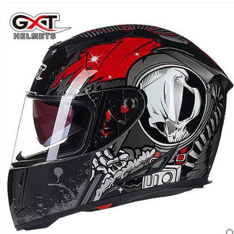 Новые оригинальные шлемы GXT с полным лицевым покрытием, зимний теплый двойной козырек, мотоциклетный шлем Casco, мотоциклетный шлем|full face helmet|face helmetdouble visor motorcycle helmet | АлиЭкспресс