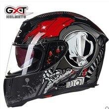 Nowe oryginalne kaski pełnotwarzowe GXT zimowy ciepły podwójny wizjer kask motocyklowy Casco motocykl capacete