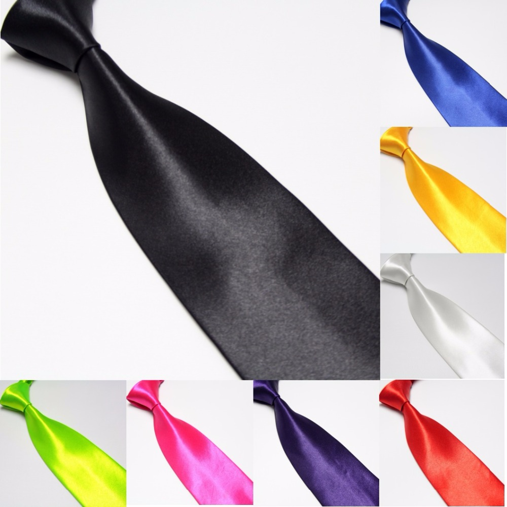 HOOYI 2018 fashion solid color silk-like mens business tie for man neckties neckwear