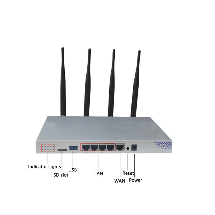 Image 4 - OpenWrt 1200Mbps Wireless Router Dual Band 802.11AC Gigabit Wifi Router Chipset MT7621A Ruter 4*5dBi Antenna English Firmware-in Wireless Routers from Computer & Office