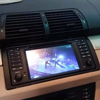 Tela capacitiva Sistema Multimídia Do Carro Para BMW E39 E53 X5 M5 520i 528i 530i Série Antiga 5 Com DVD Player GPS de Navegação fone de ouvido estéreo