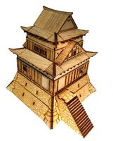 Board Wooden Scene Model Assemble DIY Game With 28mm Ratio of 1:56 for Japanese Warring States Residence Build House 16*16*20cm