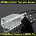 CCD ночного видения с 4 СВЕТОДИОДНЫЕ лампы Автомобилей Заднего Вида Камера Заднего вида ДЛЯ NISSAN Qashqai X-TRAIL 2002-2012 Автомобилей 8165LED
