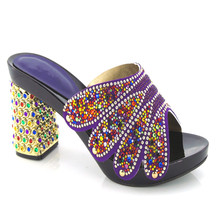 Elegant style Italian shoes and New design for women dress,party shoes for lady.KL813-99 Purple shoes for size 38-43.