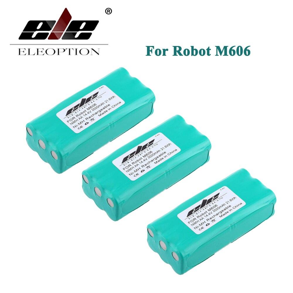 ELEOPTION 3PCS High Quality 14.4 Volt 14.4V 2000mAh 2.0Ah Ni-MH Replacement Vacuum Battery for Libero Vacuum 0606004, M606 eleoption 2000mah 14 4v battery for bosch 14 4 volt bat038 bat140 bat159 bat040 bat041