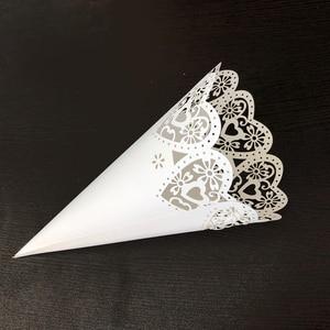 Image 4 - Bộ 50 Tiệc Cưới Confetti Nón Cánh Hoa Kẹo Đặt Cưới Ủng Hộ Nữ Thời Trang Trái Tim, viền hoa Giấy Nón Tặng Đóng Gói Giấy