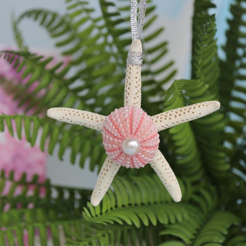 Envío gratis (6 unids / lote) rosa erizo de mar colgante de Navidad - Para fiestas y celebraciones