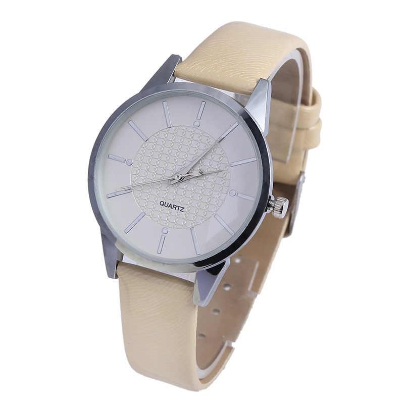 Новые Металлические кварцевые часы Изысканный компактный миниатюрный циферблат, женские часы Яркий кожаный ремешок женские часы круглый кожаный clockSW-45