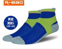 4 pairs/lot NEW R-BAO Outdoor Sports Men's Socks Cotton Sports Mens Hiking Badminton Socks 39-43 Spring Autumn RB8801