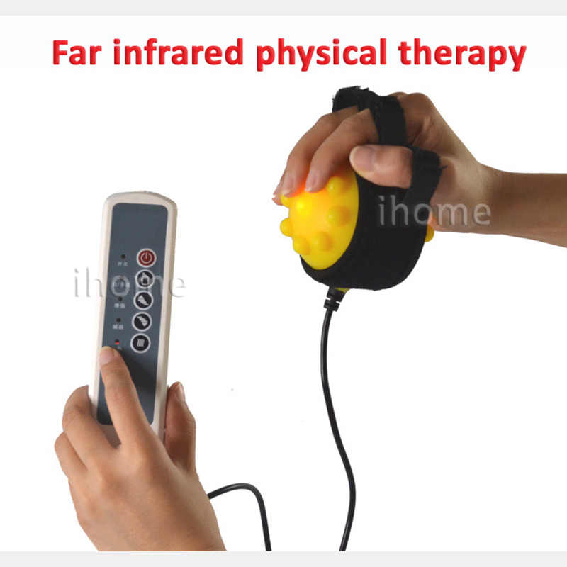 Electric Hand Massage Ball Hot Compress Stroke Hemiplegia Finger  Rehabilitation Training Machine Finger Recovery Equipment Train