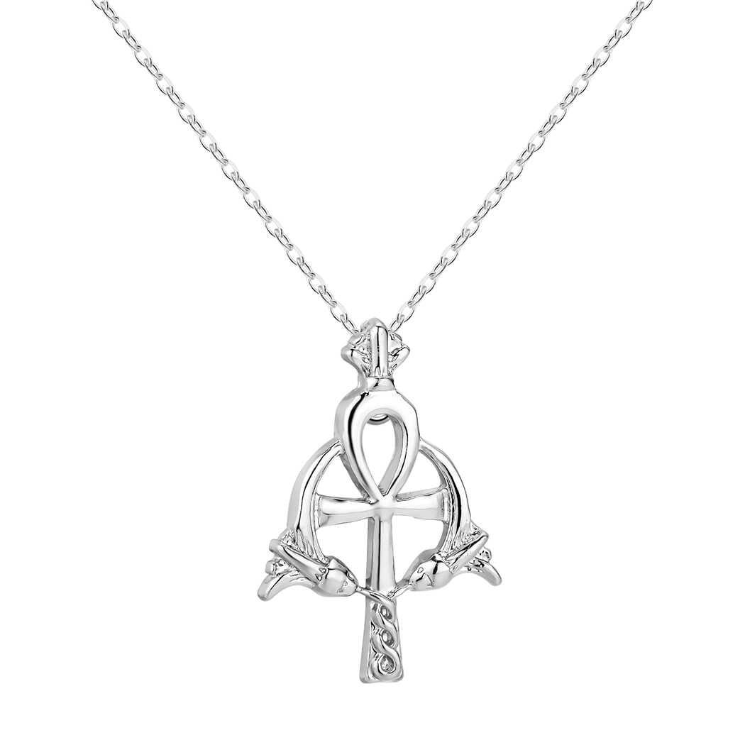 Ankh จี้สร้อยคอ Cross โบราณศาสนาอียิปต์เครื่องประดับอียิปต์ Charm ผู้ชายของขวัญ Collier Amulet ไวกิ้งสร้อยคอ