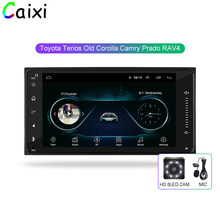 Caixi car Android 8.1 multimedia Player for toyota corolla 2 Din Universal car radio with gps navigation car dvd stereo player(China)