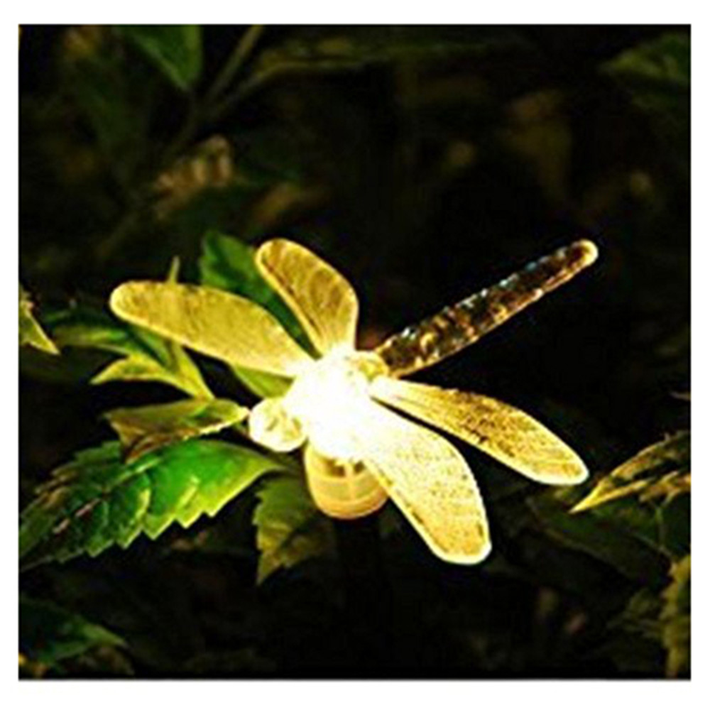 Garden Lights Solar Powered Stake Light With Color Changing ABS LED Dragonflies Lighting Lamp Garden lighting For Outside Yard цены