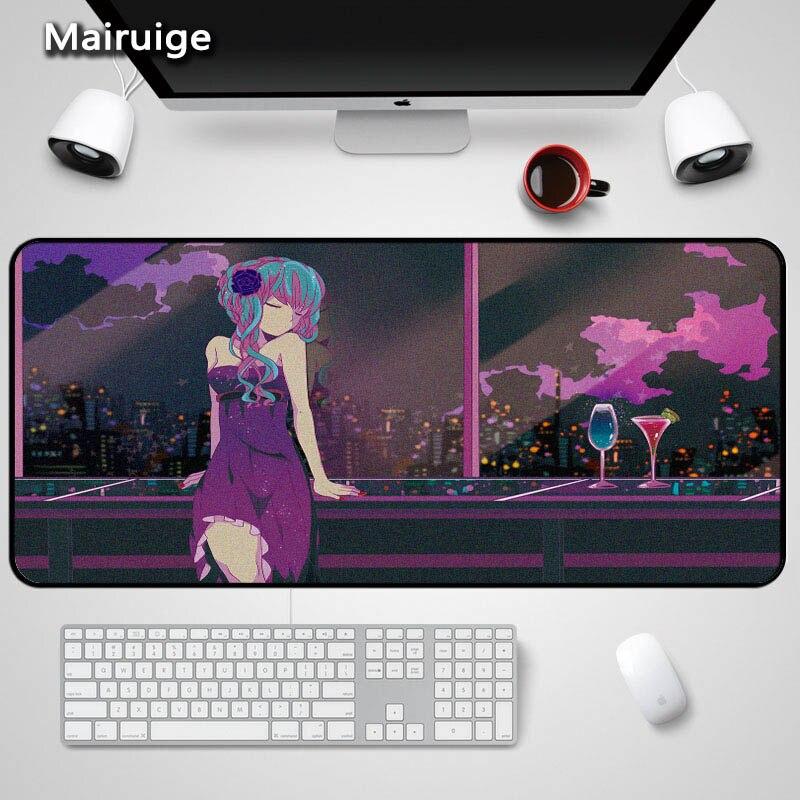 Mairuige Anime Girls MousePad Large MousePads Japan Anime miku Rubber Customized pc tabletop gaming mouse pads