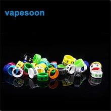7pcs/lot Colorful decorative & protection Silicone rubber Vape Band Ring for Melo 3 subtank Serpent Mini Nano TFV4 Tank atomizer