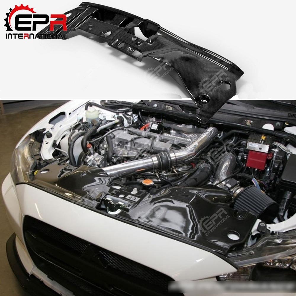 For Mitsubishi EVO 10 X OEM Carbon Fiber Cooling Panel Engine Radiator Cover