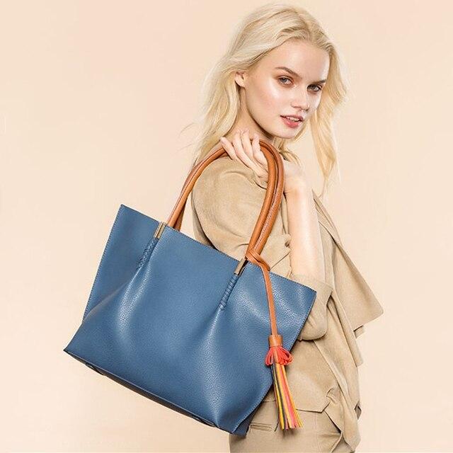 AMELIE GALANTI Women's Shoulder Bags Composite Bag 2 Piece Handbag Tassel Panelled Soft Convenience Versatile Shoulder Bags