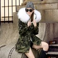 Winter Jacket Women's Parkas Army  Fur Collar Hooded Coat Woman High Quality Big Plus Size Female Outwear Ladies Parks New 2016