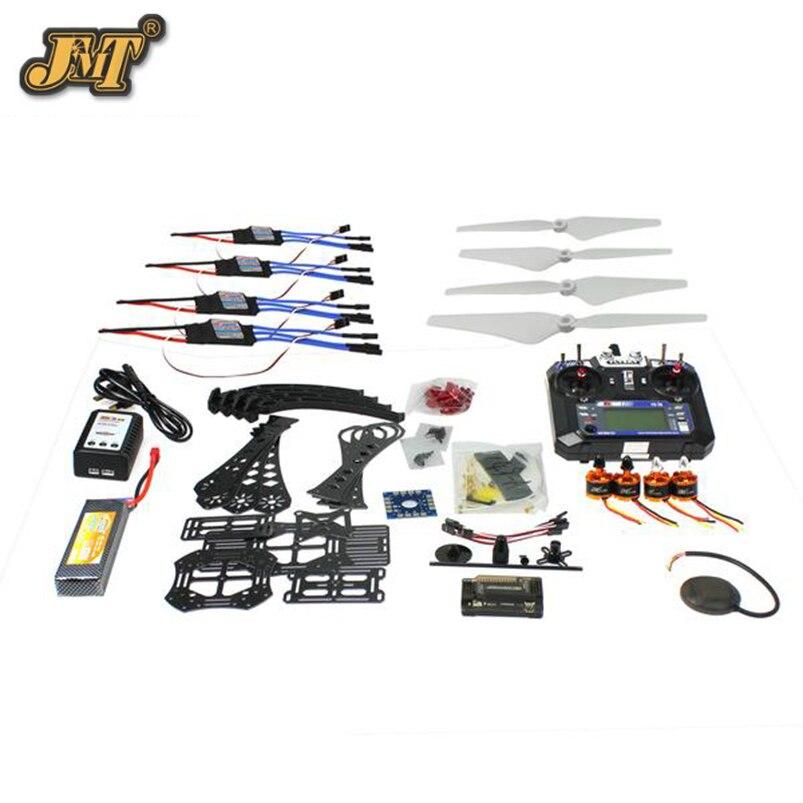 JMT DIY Радиоуправляемый Дрон Квадрокоптер полный набор RTF X4M380L кадров Комплект APM 2,8 gps TX
