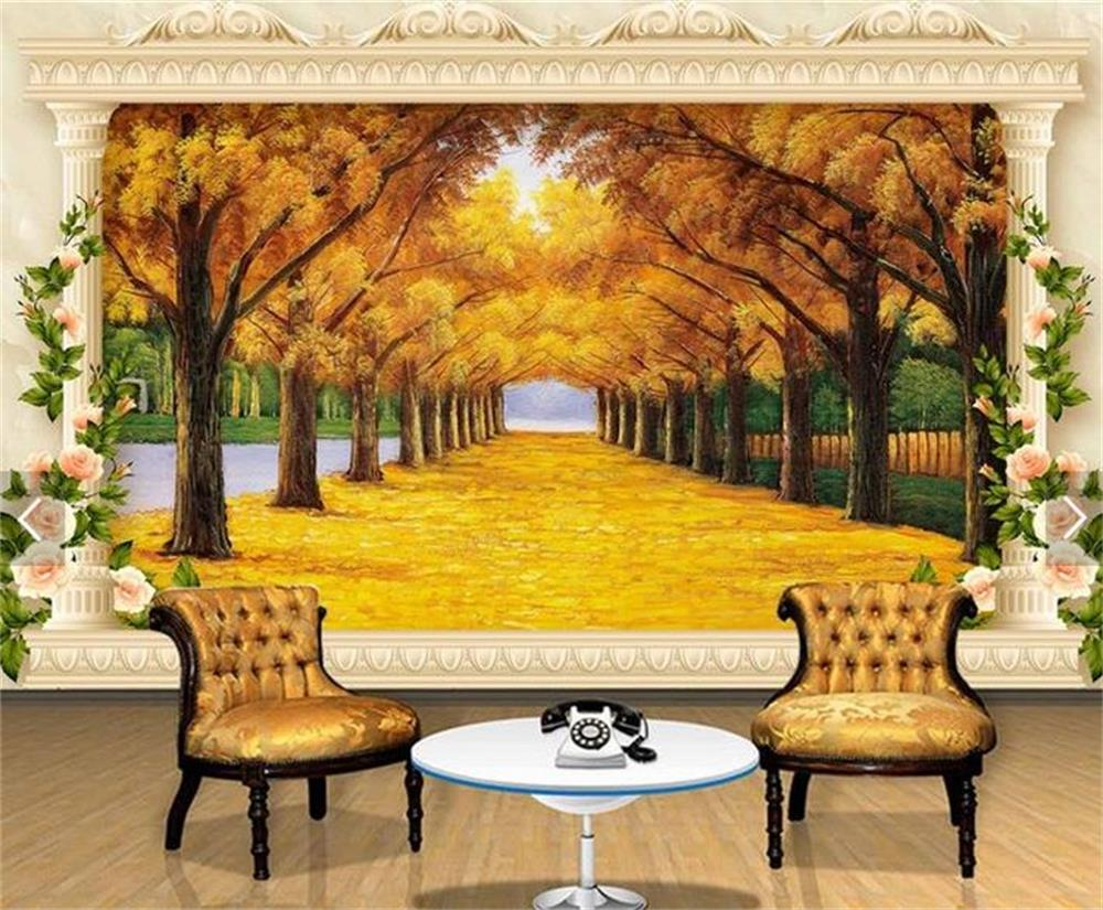 3d wallpaper custom photo hd mural gold all over the floor for Custom photo mural