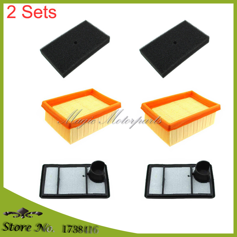 3 PACK Air Filter Set For Stihl TS400 Concrete Saw 4223 140 1800 4223 141 0600
